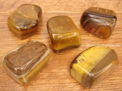 Piedras pulidas de Ojo de Tigre
