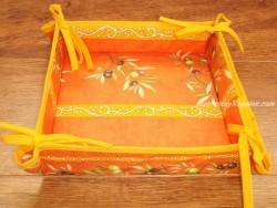 Panera de Mesa de Algodón - Modelo CLOS DES OLIVIERS - Naranja