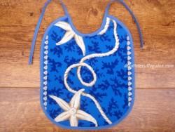 Babero bebé - Modelo MARINERO - Azul