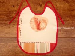 Babero bebé - Modelo BARCOS - Naranja