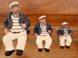 Capitán Sentado con Pipa (12, 16 y 22 cm.)