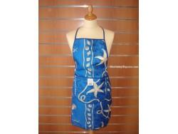 Delantal Antimanchas - Modelo Marinero - Azul