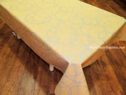 Mantel Resinado de Algodón - Modelo CIRCLES - Dorado