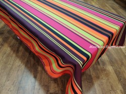 Mantel Antimanchas Poliéster - Modelo RAYAS - Multicolor