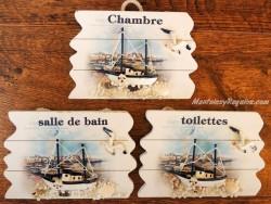 Placas marineras para puertas - 14 cm. (3 opciones para elegir)