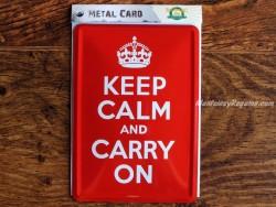 Postal metálica KEEP CALM AND CARRY ON (Nostalgic-Art)