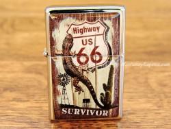 Mechero metálico - HIGHWAY US 66 SURVIVOR de la firma Nostalgic Art