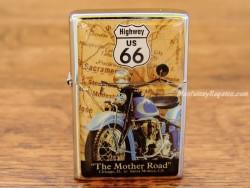 Mechero metálico - ROUTE 66 THE MOTHER ROAD de Nostalgic-Art