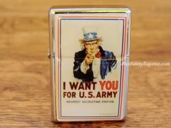 Mechero metálico - I WANT YOU FOR U.S. ARMY de Nostalgic-Art