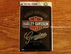 Postal metálica HARLEY-DAVIDSON GENUINE de Nostalgic-Art