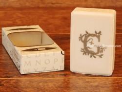 Jabón perfumado - Letra G