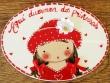 Placa para puerta niña vestido rojo (Aquí duermen dos Princesas)