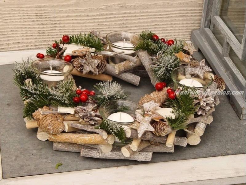 Centro de mesa navide o modelo navidad 30 cm - Centros de mesa navidenos hechos a mano ...