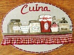 Placa para puerta cocina alacena (Cuina)