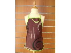 Delantal niños - Modelo ESPIRAL - Chocolate