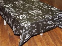 Mantel algodón plastificado - Modelo LUNCH - Negro