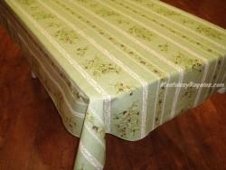 Mantel de Algodón Plastificado - Modelo CLOS DES OLIVIERS - Verde