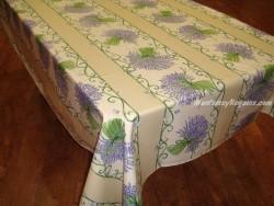 Mantel de Algodón Plastificado - Modelo BOUQUET DE LAVANDE - Crema