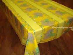 Mantel de Algodón Plastificado - Modelo BOUQUET DE LAVANDE - Amarillo