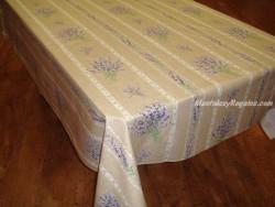 Mantel de Algodón Plastificado - Modelo VALENSOLE - Lino