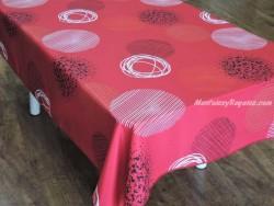 Mantel antimanchas - Modelo ESPACIO - Rojo