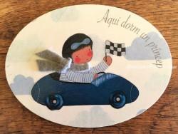 Placa para puerta niño con coche (Aquí dorm un Príncep)