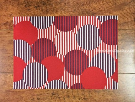Mantel individual DAY DRAP modelo TOPO rojo