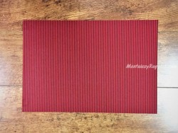 Mantel individual DAY DRAP modelo RAYAS rojo