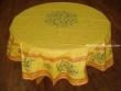 Mantel de Algodón Plastificado - Modelo CLOS DES OLIVIERS - Amarillo (Redondo 1,80 mt.)