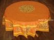 Mantel de Algodón Plastificado - Modelo CLOS DES OLIVIERS - Naranja (Redondo 1,80 mt.)