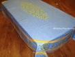 Mantel de Algodón Plastificado - Modelo CLOS DES OLIVIERS - Azul (Rectangular 2,50 x 1,60 mt.)