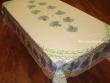 Mantel de Algodón Plastificado - Modelo BOUQUET DE LAVANDE - Crema (Rectangular 2,50 x 1,60 mt.)