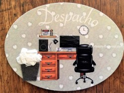 Placa de puerta para Despacho con silla negra (con texto DESPACHO)