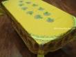Mantel de Algodón Plastificado - Modelo BOUQUET DE LAVANDE - Amarillo (Rectangular 2,50 x 1,60 mt.)