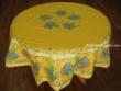 Mantel de Algodón Plastificado - Modelo BOUQUET DE LAVANDE - Amarillo (Redondo 1,80 mt.)