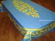 Mantel de Algodón Plastificado - Modelo CITRON - Azul (Rectangular 2,50 x 1,60 mt.)