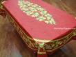 Mantel de Algodón Plastificado - Modelo CITRON - Rojo (Rectangular 2,50 x 1,60 mt.)