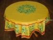 Mantel de Algodón Plastificado - Modelo MAUSSANE - Amarillo (Redondo 1,80 mt.)