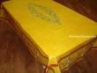 Mantel de Algodón Plastificado - Modelo UZÉS - Amarillo (Rectangular 2,50 x 1,60 mt.)