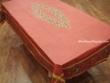 Mantel de Algodón Plastificado - Modelo UZÉS - Rojo (Rectangular 2,50 x 1,60 mt.)