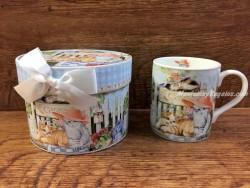 Taza decorada con caja - Modelo GARDEN