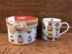 Taza decorada con caja - Modelo CUPCAKES
