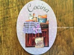 Placa de cocina con armario de 2 puertas (con texto COCINA)