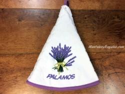 Paño de cocina jacquard modelo LAVANDA PALAMÓS blanco