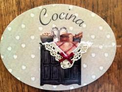 Placa de cocina con mueble de 2 puertas (con texto COCINA)