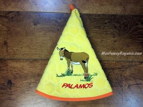 Paño redondo de cocina - Modelo BURRO PALAMÓS - Amarillo