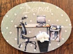 Placa de puerta para Despacho con ordenador (con texto DESPATX)