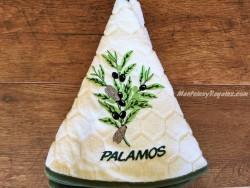 Paño redondo de cocina - Modelo OLIVAS PALAMÓS - Crema