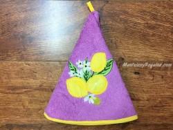 Paño de cocina modelo LIMONES violeta