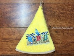 Paño de cocina - Modelo HAMACAS - Amarillo